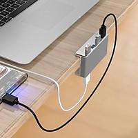 Bộ chia 4 cổng USB 3.0 dạng kẹp vỏ nhôm MH4PU