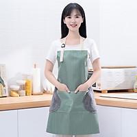 Tạp Dề Làm Bếp Không Thấm Nước, Có Túi Và Chỗ Lau Tay 2 Bên Hông
