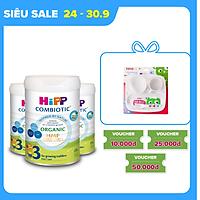 Combo 3 lon sữa bột dinh dưỡng công thức HiPP 3 Organic Combiotic chất lượng hữu cơ, tăng cường sức khoẻ hệ miễn dịch, bổ sung Canxi và vitamin D dành cho trẻ trên 12 tháng tuổi (3 lon x 800g)