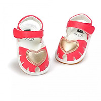 Giày tập đi sandal cho bé gái 0-18 tháng trái tim đáng yêu – TD16