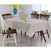 Khăn trải bàn canvas hoa nhí - khăn trải bàn nhà hàng - phòng khách - phòng ăn KB01