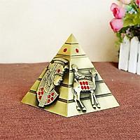 Mô hình kim tự tháp Ai Cập cao 9.3 cm - Màu vàng rêu