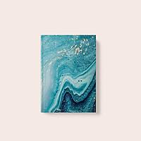 Sổ tay Sketch - Ruột Trơn - Marble Xanh Dương