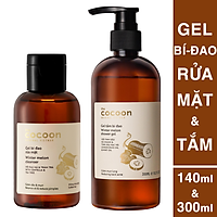 Gel rửa mặt bí đao cocoon 140ml + Gel tắm bí đao cocoon 300ml