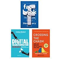 """Combo Facebook - Bí Mật Về """"Quốc Gia"""" Lớn Nhất Thế Giới + Chiến Lược Marketing Cho Thị Trường Công Nghệ - Crossing The Chasm + Digital Transformation - Chuyển Đổi Số"""