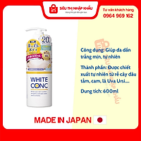 Sữa tắm trắng da số 1 Nhật Bản White Conc 600ml