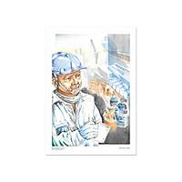 Tranh Poster Đường phố Sài Gòn | Công trường xây dựng | Soyn SG2404
