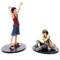 Bộ mô hình Luffy & Usopp bản đẹp PVC 25cm