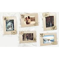 combo 5 khung ảnh để bàn tiệc cưới độc đáo xinh xắn, khung ảnh được thiết kế hiện đại phù hợp với mọi không gian, trang trí decor ảnh cặp đôi, ảnh cưới độc lạ