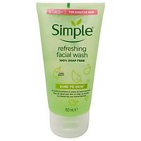Sữa Rữa Mặt SIMPLE Kind To Skin Dạng Gel Cho Da Nhạy Cảm UK