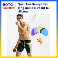 Quần bơi nam Boxer YESURE DEENYT  Chất liệu Superfine polyester cao cấp , chống thấm , nhanh khô form Fitness thời trang (Tặng kèm nón bơi + bịt tai silicon) - Hàng Chính Hãng