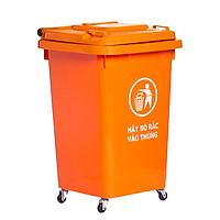 Thùng rác nhựa 60L màu cam