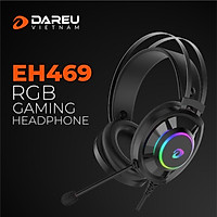 Tai Nghe Gaming Dareu EH469 Black (Âm Thanh 7.1) - Hàng Chính Hãng