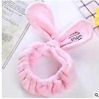 Băng đô tai thỏ dài vải bông mềm cao cấp