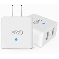 Củ sạc Nhanh BYZ 702 hỗ trợ sạc 2 thiết bị một lúc 2.1A Max cho iPhone, Samsung, Xiaomi, Huawei, Oppo.  - Hàng nhập khẩu