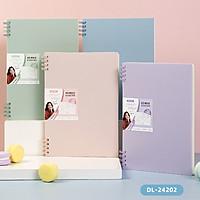Sổ tay ghi chép lò xo màu pastel Deli - Giấy kẻ ngang 80 trang khổ A5 / B5 - Phù hợp làm sổ kế hoạch, sổ nhật kí, tập vở ghi chép - 24202 / 24203