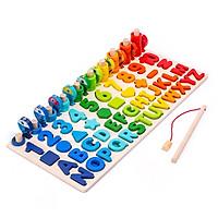 Đồ chơi bảng chữ cái - số - hình kkhối - câu cá - vòng đếm giúp bé học toán nhanh hơn BK132