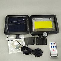 Đèn Năng Lượng Mặt Trời 100 LED Siêu Sáng Tiết Kiệm Điện Chống Mưa Nắng Có Cảm Biến Chuyển Động Ngoài Ra Tặng Kèm Điều Khiển Remote