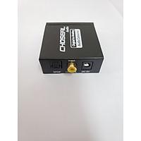 Bộ chuyển âm thanh CHOSEAL chuyển từ TV 4K quang optical sang audio AV ra amply+Cáp optical độ dài 1m-hàng chính hãng