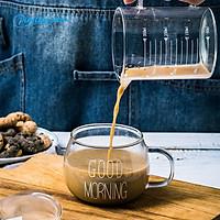 Pinellia star Cốc cà phê Bữa sáng trong suốt Bột yến mạch Cốc thủy tinh Sữa sữa chua Cốc cocktail Cốc thủy tinh Pha lê Xử lý Đồ uống Cặp đôi Quà tặng