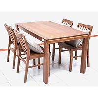 Bộ bàn ăn 4 ghế Nội Thất Nhà Bên NAN 02 (Nâu)