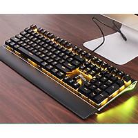 Bàn phím cơ Gaming Full Sized 108 phím LED ĐƠN có dây, bảng kim loại có phần kê tay có thể tháo rời tiện lợi - Hàng chính hãng