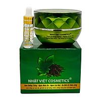 Kem dưỡng trắng - Ngừa nhăn da - Ngừa lão hóa - Se khít lỗ chân lông 25g - Có serum - Nhật Việt Trà Xanh