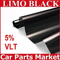 50cm*6m 5% VLT 99% UV Rejection Car Window Tint Film Black