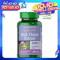 Thực Phẩm Chức Năng - Viên Uống Bổ Gan, Làm Mát Gan, Giải Độc Gan, Tăng Cường Chức Năng Gan  Milk Thistle Extract 1000Mg (180 Viên)