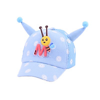 Breathable Baby Kids Boys Girls Children Cotton Caps Hats Child Adjustable Sun Protection Cute Cartoon Bee Print Casual Visors