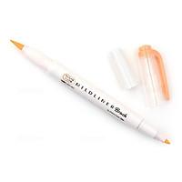 Bút lông cọ hai đầu Zebra Mildliner Double-Sided Highlighter Brush - Brush/ Extra Fine - Mild Orange