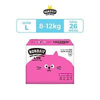 Tã Quần KOKOFiT Hàn Quốc Size L (Mèo) 26 Miếng/Bịch Cho Bé Từ 8 - 12kg
