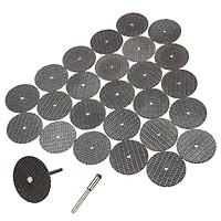 50 đĩa cắt dây gai 32mm kèm 2 trục gắn 3ly và 2 trục 2ly - dĩa đá cắt kim loại mini dùng cho tất cả các lại máy mài khắc trên thị trường