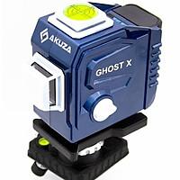 Máy cân bằng laser Akuza AK-Ghost X - Máy cân mực, bắn cốt, đánh thăng bằng 12 tia xanh - Hàng nhập khẩu chính hãng