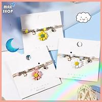 Vòng tay handmade Hoa cúc Daisy Nhiều màu sắc phong cách dễ thương