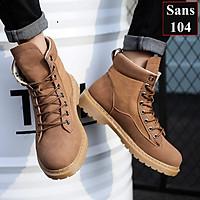 Giày Nam Cao Cổ Giầy Boot Nam Sans104
