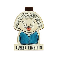 Bookmark gỗ nam châm Albert Einstein