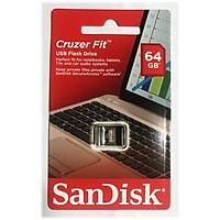 Bộ nhớ ngoài Sandisk CZ33-64GB Cruzer Fit - Hàng Chính Hãng