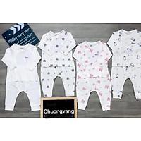 Bộ cài lệch Avaler sợi tre họa tiết cho bé từ sơ sinh đến 9m (shop Chuongvang)