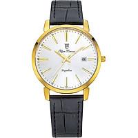 Đồng hồ nam dây da Olym Pianus OP130-03MK-GL trắng