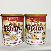Combo 2 hộp Premium Infant 400 Gr : Sữa công thức tăng trưởng và phát triển cho trẻ từ sơ sinh đến 12 tháng tuổi