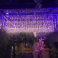 Đèn nháy thả mành rèm lung linh sắc màu trang trí trần nhà, phông rèm tiệc cưới, sự kiện, đèn rèm mưa nháy 8 chế độ