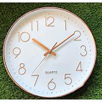 Đồng hồ treo tường kim trôi viền vàng kim vàng