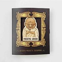 Bookmark gỗ nam châm Mahatma Gandhi BO032