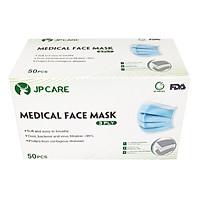 Khẩu trang JP CARE kháng khuẩn 3 LỚP hộp 50 cái màu xanh (giấy kháng khuẩn)