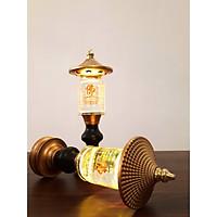 Đèn Thờ Phong Thủy Pha Lê Tháp Chữ Phật, hình trụ DTP