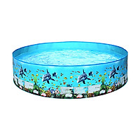 244 * 38cm/ 96.1 * 15in Outdoor Children Swimming Pool Portable Foldable Round Shape Swimming Pools for Kids Toddles