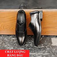 Giày Nam Da Bò Công Sở Cao Cấp, Giày Dây Công Sở Đẹp, Sang Trọng, Gia Công Tại Xưởng Cẩn Thận, Tỉ Mỉ