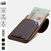 Bóp VÍ Nhỏ Gọn Cầm Tay Da Bò Thật, Ví Da Handmade Thời Trang Unisex Cho Nam Và Nữ Đựng Tiền Và Thẻ VS19
