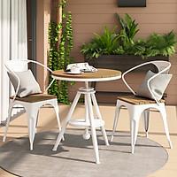 LUX.>>> Bộ bàn ghế ban công 2 ghế 1 bàn - Bộ bàn ghế ngoài trời cao cấp (kt 55x 68- 80 cm)